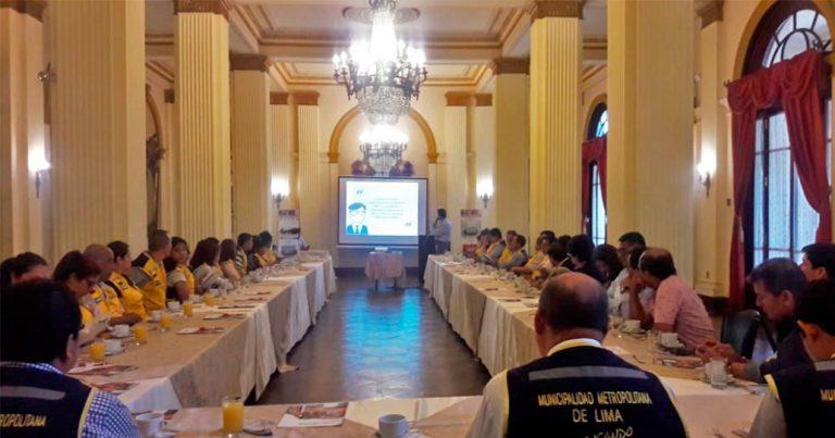 Capacitación a Sub Gerentes de Defensa Civil – Municipalidad de Lima
